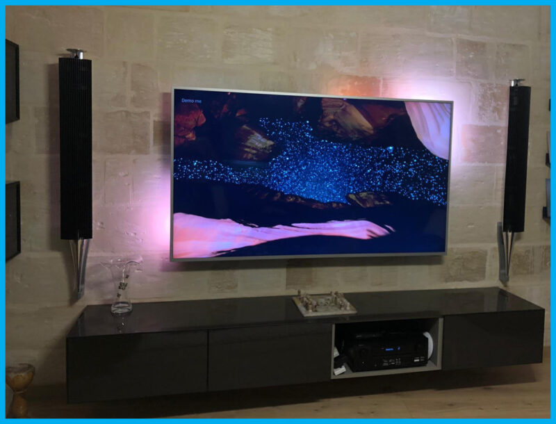 Bang & Olufsen with Philips TV Installation