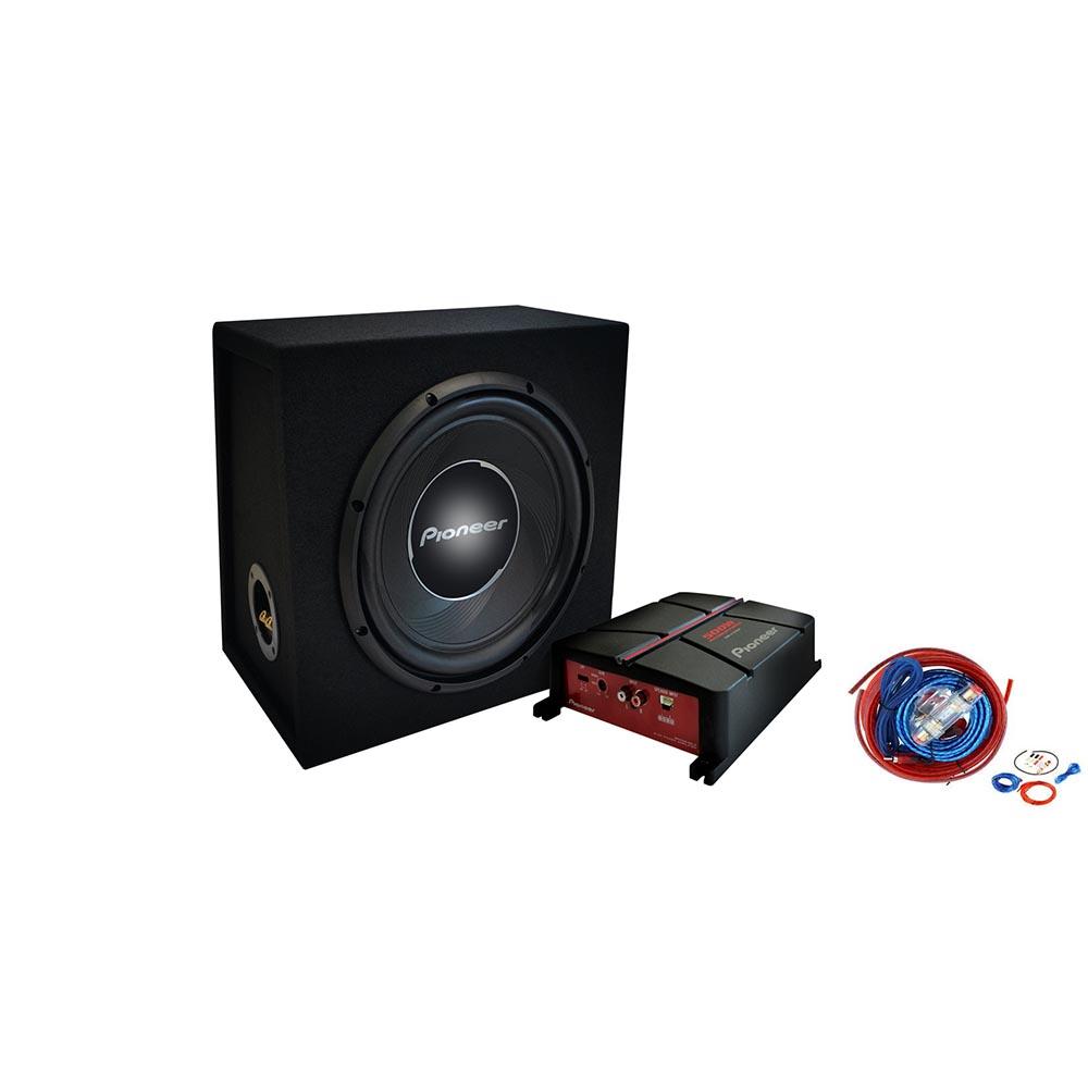 Set di 2 Amplificatore pi/ù subwoofer Pioneer GXT-3730-B