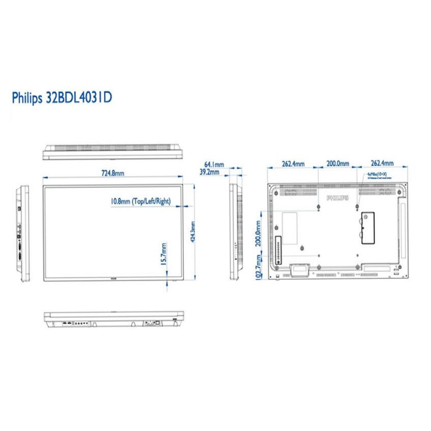 32bdl4031d measurments