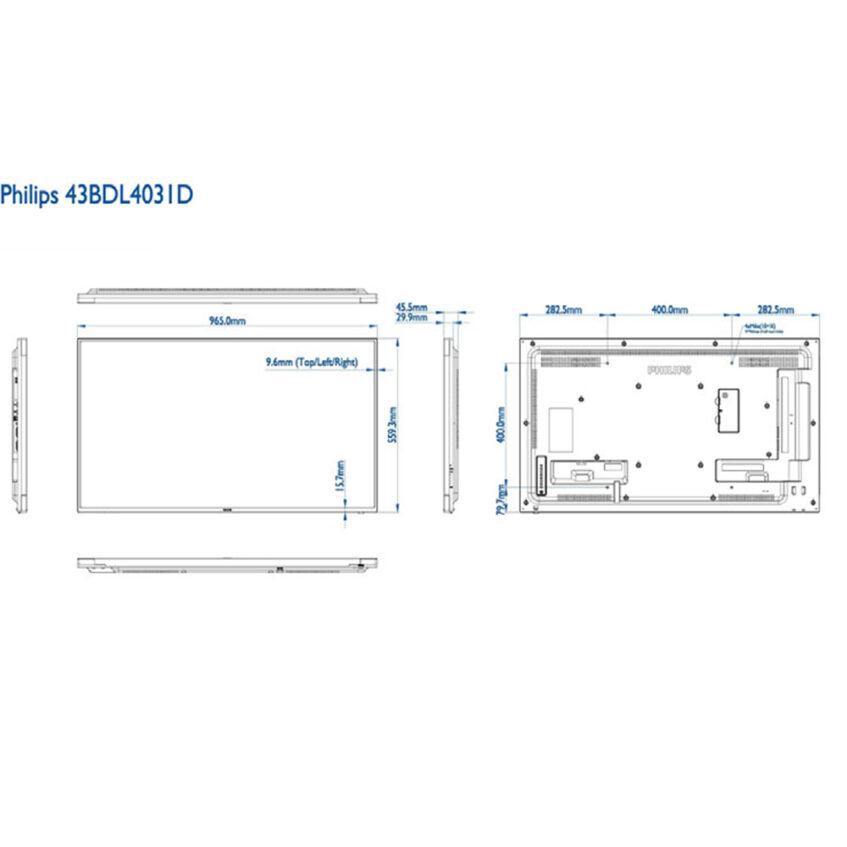 43BDL4031D measurments
