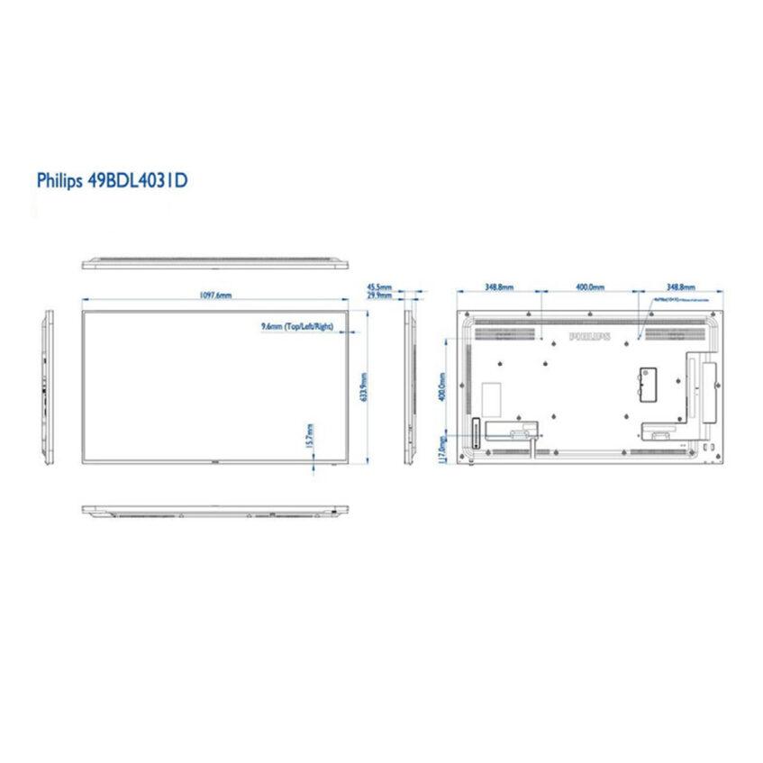 49BDL4031D measurments
