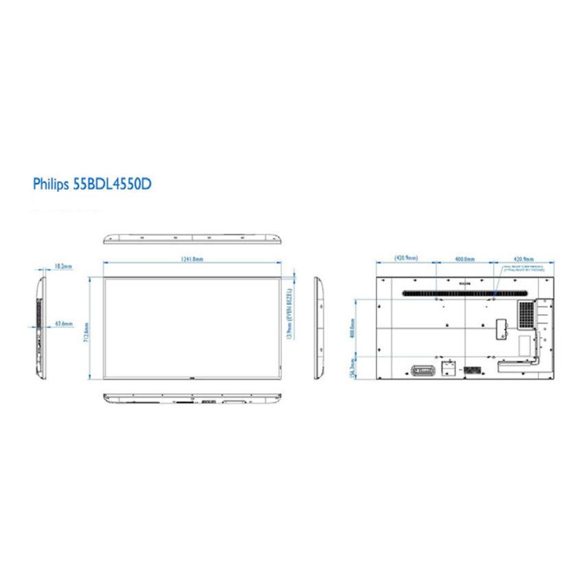 55BDL4510D measurments